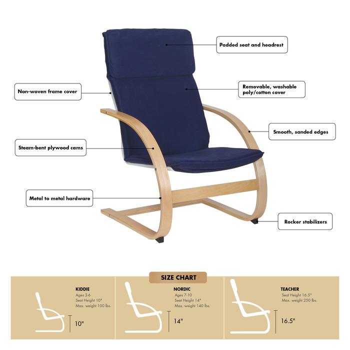 Guidecraft G6406 Blue Kiddie Rocker Chair Set Affordable