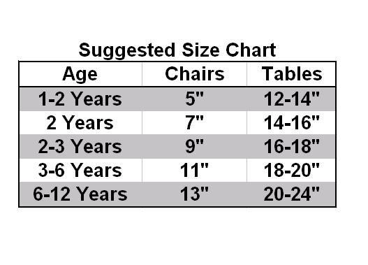Seat Height Chart. Jonti Craft ...